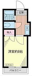 シャルム大久保[1階]の間取り