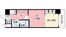 兵庫県西宮市芦原町の賃貸マンションの間取り