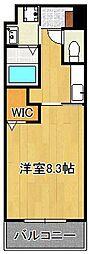 ラグーナ田原新町 7階1Kの間取り