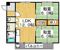 しののめハイツ[2階]の間取り
