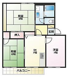 サンベルテ戸塚E棟[2階]の間取り