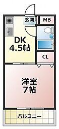 エスポワール深江橋[1階]の間取り