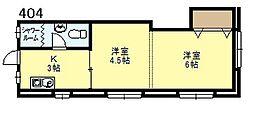 新大阪マンション[404号号室]の間取り