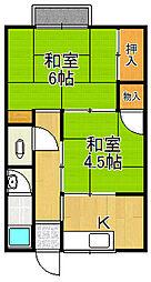 ゆうき荘[2階]の間取り