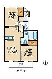 千葉県松戸市古ケ崎3丁目の賃貸アパートの間取り