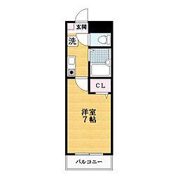 ペニーレーン[3階]の間取り