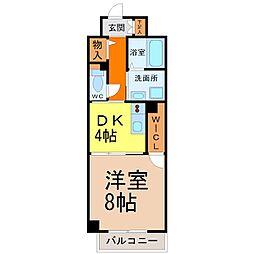 愛知県名古屋市北区清水2丁目の賃貸マンションの間取り