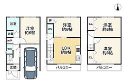 京阪本線 大和田駅 バス10分 島頭下車 徒歩4分 4LDKの間取り