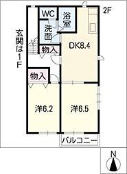 ソフィアMK−A[2階]の間取り