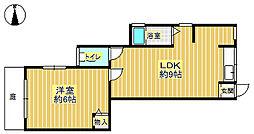 岡田文化[1階]の間取り