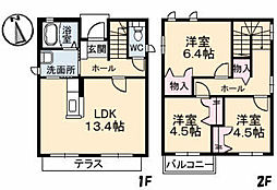 [一戸建] 広島県福山市水呑町 の賃貸【/】の間取り