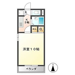 第6ハイツタマキ[1階]の間取り