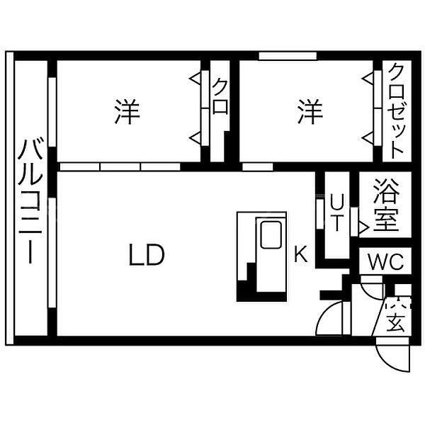 speranza KITAMARUYAMA(スペランツァ北円山)[1階]の間取り