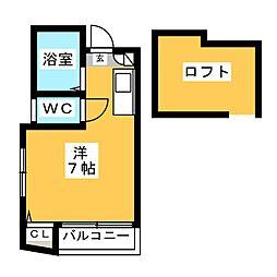 アルファピネン博多[2階]の間取り