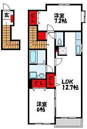 スウィートライフ野間 A棟[1階]の間取り