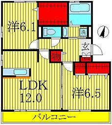 ジン ハウスB棟[3階]の間取り