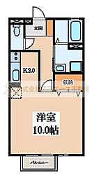 ハイツKAZU[1階]の間取り