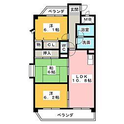 エクレール87[3階]の間取り