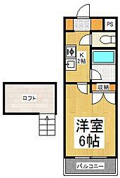 クレストール新小平[2階]の間取り