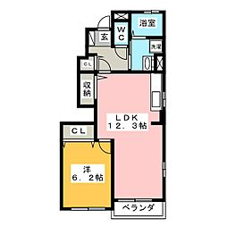 フォレストグランドA棟[1階]の間取り