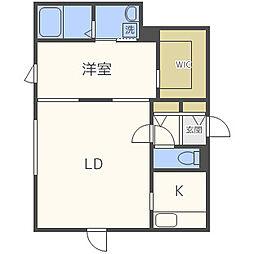 北海道札幌市西区西野三条8丁目の賃貸マンションの間取り