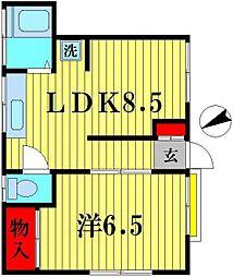 コーポ桜井[102号室]の間取り