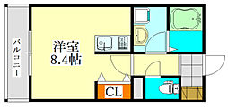 V-room1[108号室]の間取り