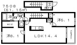 House Eureka(ハウスユーリカ)[203号室号室]の間取り