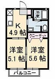 DIAS敷島[A102号室]の間取り
