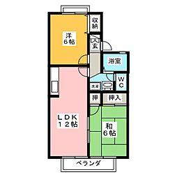 セジュールMATSUBARA[2階]の間取り