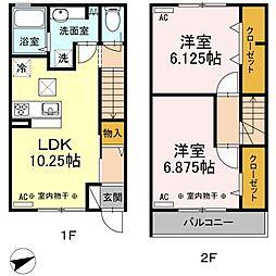 仮)D-room多磨町[1階]の間取り