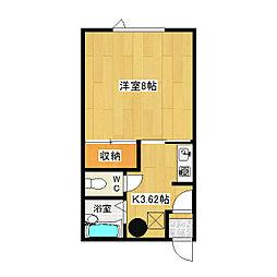 北村マンション[2-B号室]の間取り