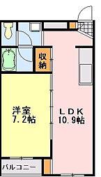 フィールドハウス末広弐番館[212号室]の間取り