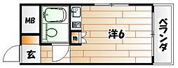 中央町スカイマンション[701号室]の間取り