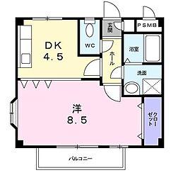 フローラ学園台[2階]の間取り