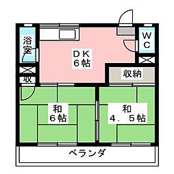コーポ加藤(七宝)[2階]の間取り