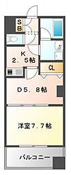 レフィーナカルム江坂[9階]の間取り