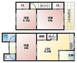 旭園アパート[N2号室]の間取り