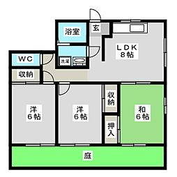 メゾンサンシャイン A棟[1階]の間取り