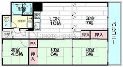 公社山田千里BC団地 A-5棟[5階]の間取り