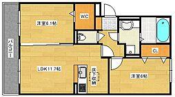 (仮)D−room仁保1丁目[2階]の間取り