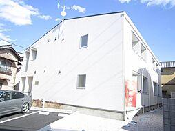 埼玉県東松山市材木町の賃貸アパートの外観