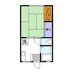 コスモハイツ田中D[1階]の間取り