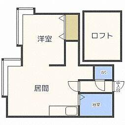 アクティ316[1階]の間取り