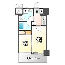 ルネッサンス21薬院サウス[8階]の間取り