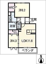 仮)D−room豊山[2階]の間取り