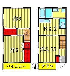 [一戸建] 埼玉県三郷市鷹野2 の賃貸【/】の間取り