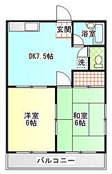 シンセア津田C[2階]の間取り