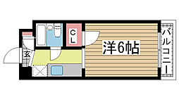 兵庫県神戸市須磨区行幸町2丁目の賃貸マンションの間取り