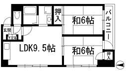 兵庫県宝塚市中山寺1丁目の賃貸マンションの間取り